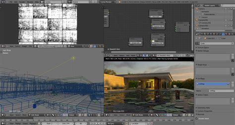 blender tutorial scene free download archviz project pabellon barcelona 3d
