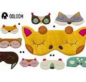 Adorables Masques De Nuit Animaux Pour Enfants Par &246&246loom