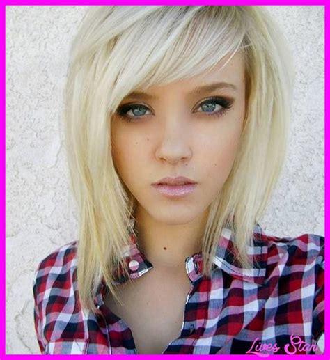 mid length choppy hairstyles medium short length haircuts livesstar com