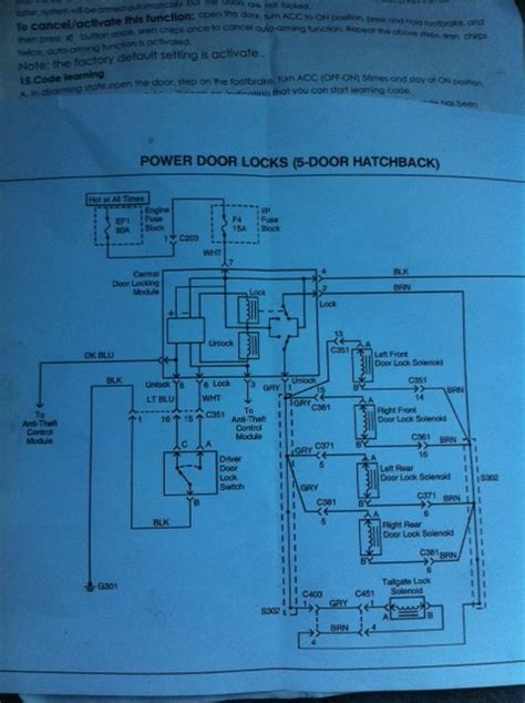 daewoo matiz central locking wiring diagram daewoo free