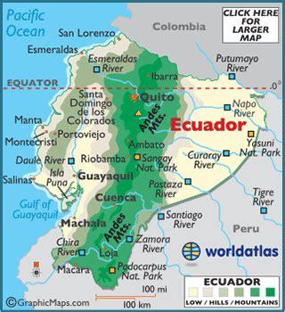 geographical map of ecuador ecuador map geography of ecuador map of ecuador