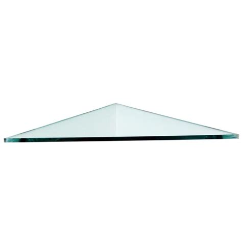 Triangle Corner Shelf by Floating Glass Shelves 3 8 In Triangle Glass Corner Shelf
