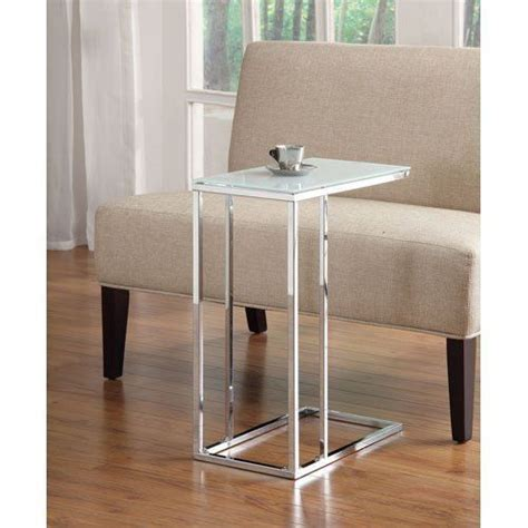 snack sofa table contemporary sofa console snack table glass top and chrome