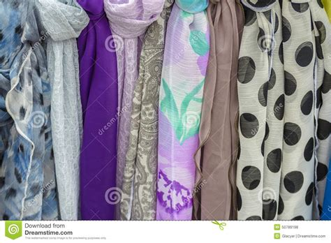 Handmade Scarves For Sale - colored scarves stock photo image 50789198