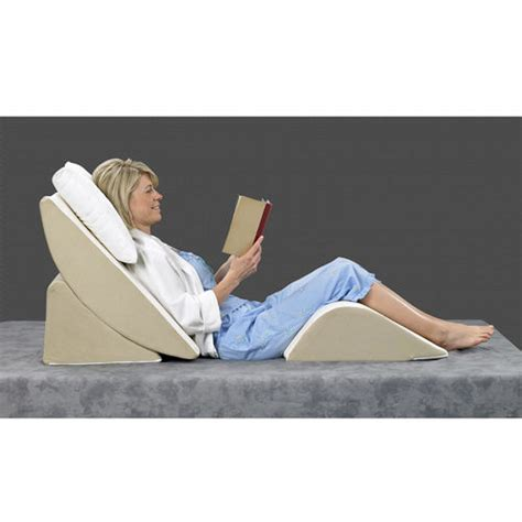 pillow sitting up in bed bed wedge 3 piece sit up pillow system at brookstone buy now