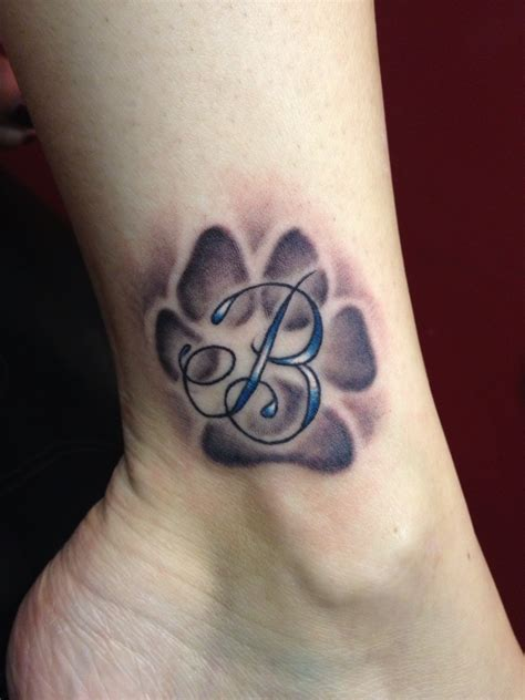 tattooed dogs paw print tattoos designs ideas and meaning tattoos for you