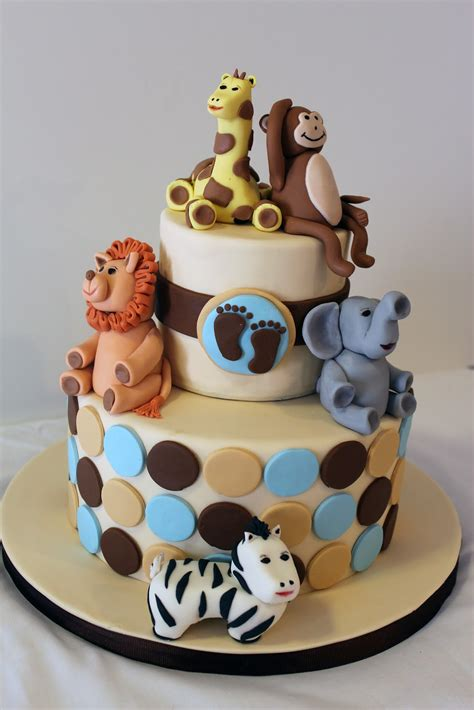 Animal Baby Shower Cakes sweet stirrings zoo animal baby shower