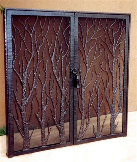 1000 ideas about fireplace screens with doors on