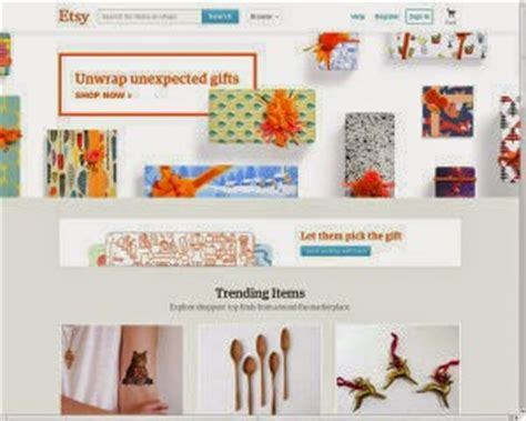 Handmade Items Website - what are the top 10 ranked shopping websites for