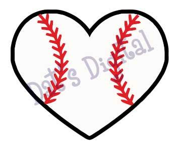 baseball clipart baseball heart pencil and in color