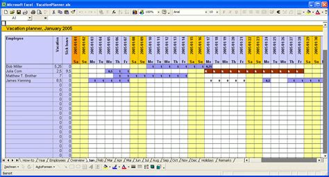Calendar Vacation Planner Vacation Planner 2016 Excel Templates For Every Purpose Employee Employee Vacation Planner Template Excel