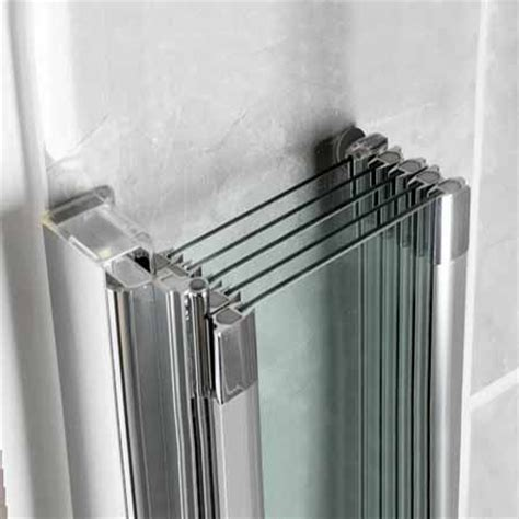 folding shower screens bath for family bathroom manhattan m3 swiftseal 5 panel folding