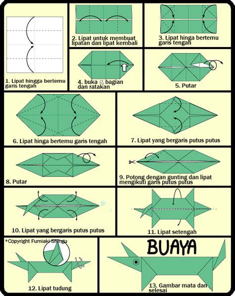 membuat origami sederhana untuk anak paud cara membuat origami buaya untuk anak
