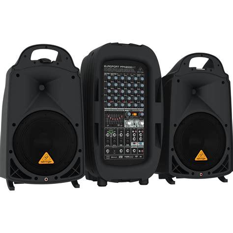 Mixer Behringer Sound System behringer europort ppa2000bt 2000w 8 channel ppa2000bt b h