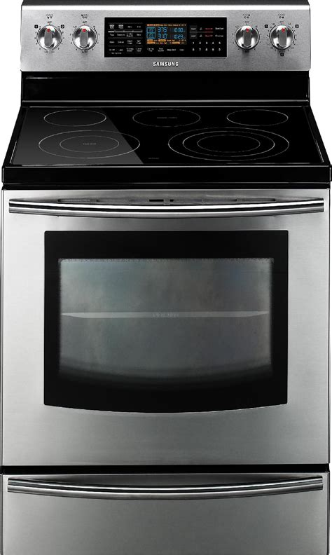 Oven Gas Stainless Steel samsung 6 6 cu ft dual oven electric range stainless