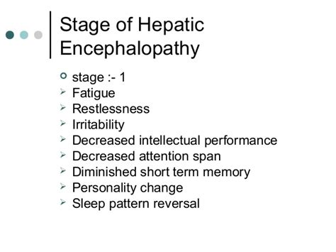 sleep pattern reversal 5 hepatic encephalopathy