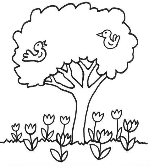 Kostenlose Vorlage Baum Kostenlose Malvorlage B 228 Ume Blumen Unter Dem Baum Zum Ausmalen