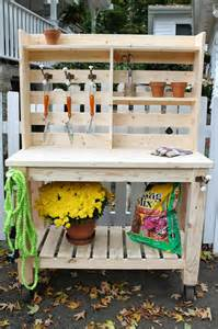 Potters Benches The Picket Fence Projects Ma Look What I Made