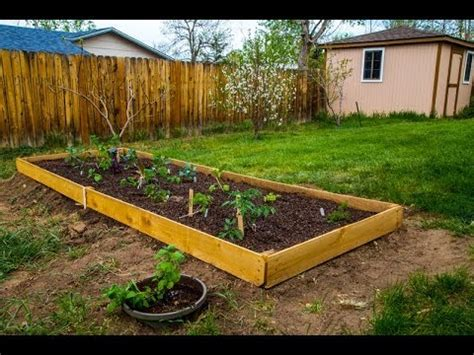 Raised Garden Bed With Fence by A Simple Mini Raised Garden Bed Using Cedar Fence