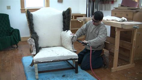 how to repair upholstery how to reupholster a wing chair chapter 14 youtube