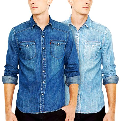 Kemeja 99 List denim shirt kemeja denim pria 4 sizes 2 colors must elevenia