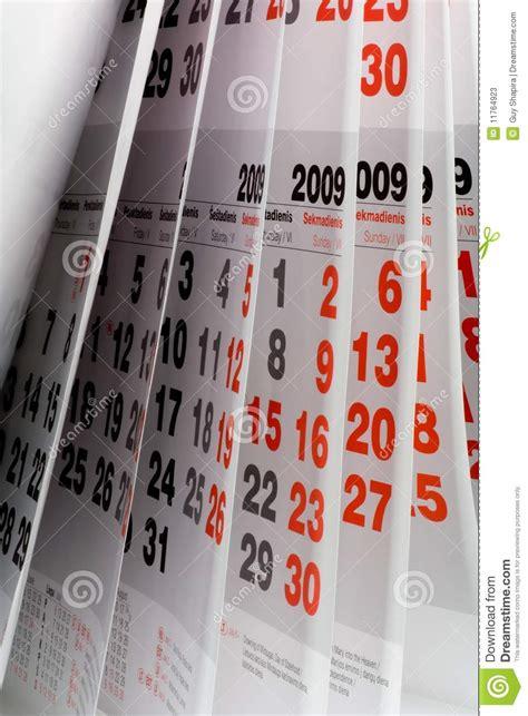 Open Up Calendar Open Calendar Page Stock Photos Image 11764923