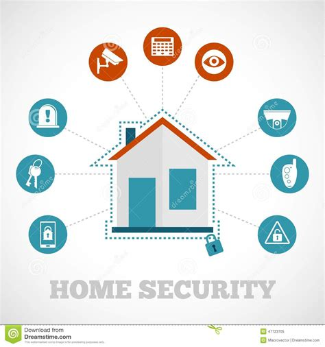 home security icon flat stock vector image 47723705