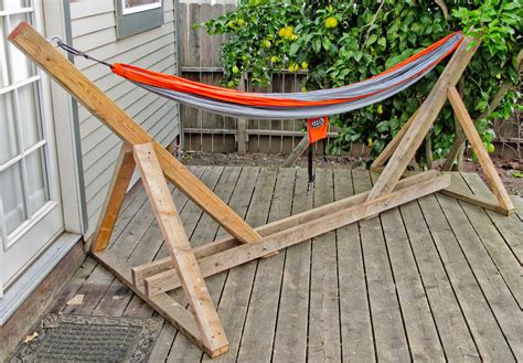 enchanting design of diy hammock chair stand on rustic