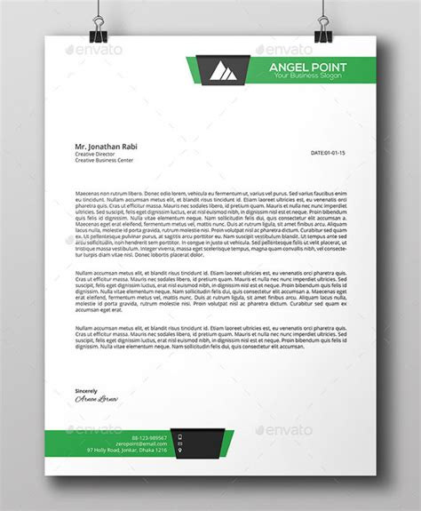 professional stationery templates business letter template 20 free sle exle format