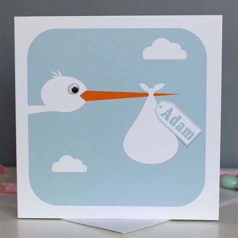 Toddler Cards - personalised new baby card by stripeycats