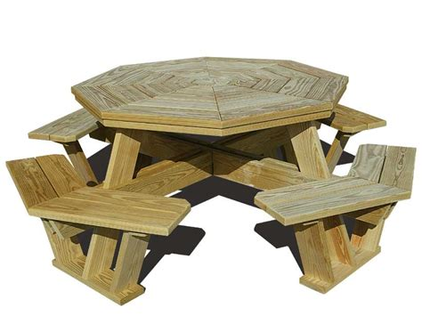 woodwork wooden hexagon picnic table plans pdf plans