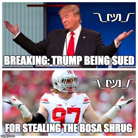 Ohio State Football Memes - donald trump shrug imgflip
