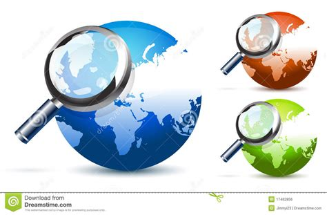 Global Search Free Global Search Stock Illustration Image Of Icon Planet 17462856