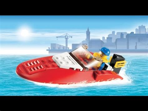 kids speed boat lego city speed boat toys for kids lego toys youtube