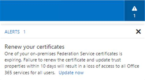 Office 365 Portal Certificate Error Office 365 Renew Your Certificates On Premise Adfs
