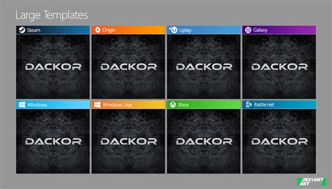 galaxy themes windows 8 1 windows 8 8 1 game tiles templates v1 0 by dackor on