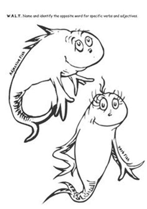 coloring page one fish two fish 1000 images about dr seuss on pinterest dr seuss the