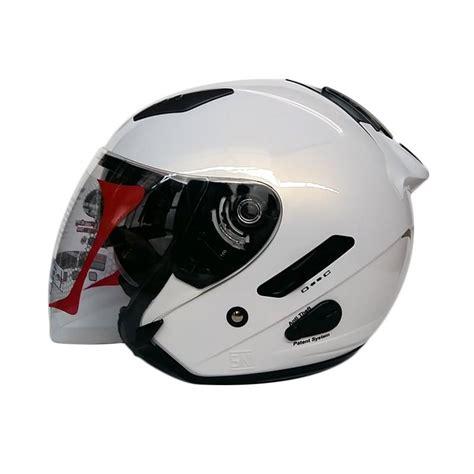 Helm Kyt Galaxy jual kyt galaxy slide matt helm half solid white harga kualitas terjamin