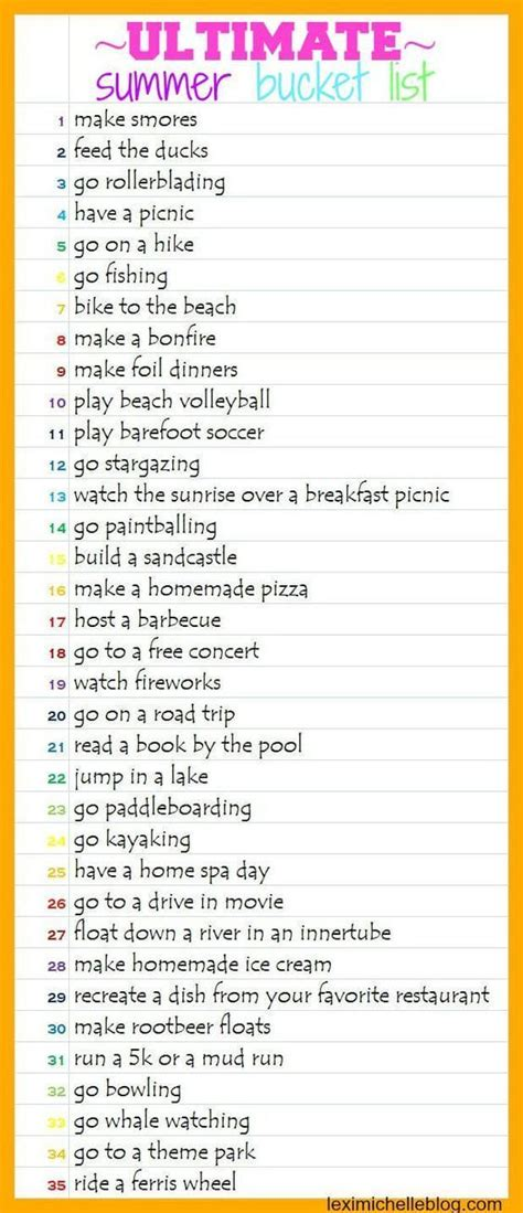 25 best ideas about summer bucket lists on pinterest