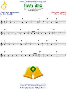Jingle bells easy version free sheet music for french horn