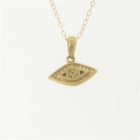 14k gold and evil eye necklace set with turquoise