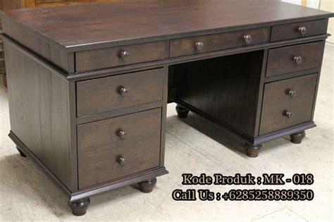 Meja Kantor Bahan Kayu meja kantor murah model minimalis kayu jati nirwana