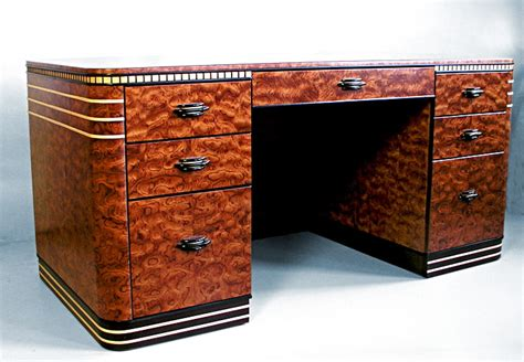 deco desk l bubinga deco desk