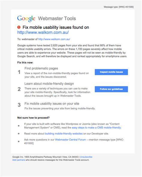 non mobile penalising non mobile responsive websites agentpoint