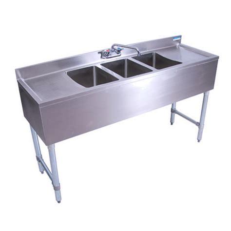 3 compartment bar sink bk resources bkubw 360t three compartment underbar sink