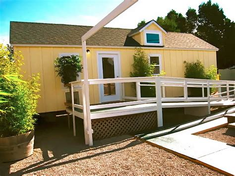 wheelchair accessible cottages home care cottages for your backyard the shelter