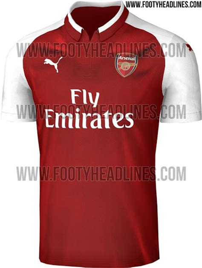 arsenal home kit arsenal 17 18 home kit leaked footy headlines