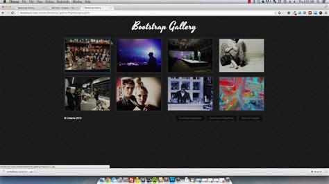 tutorial bootstrap lightbox twitter bootstrap responsive lightbox gallery mp4 youtube