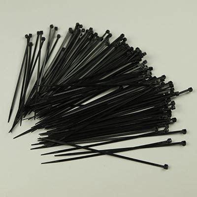 Kabelties Uk 2 5 X 150 black cable ties