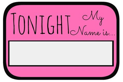 printable hens night name tags unique names the bachelorette and have fun on pinterest